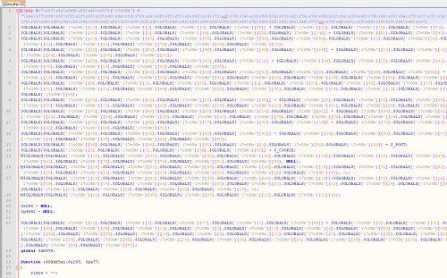 Le code du virus s'étend sur plusieurs lignes, ici difficile de le rater. Mais quand vous avez des milliers de fichiers à vérifier... c'est délicat.