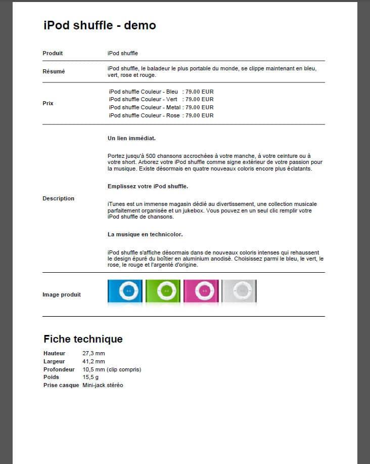 imprimer sa fiche produit en format pdf avec prestashop