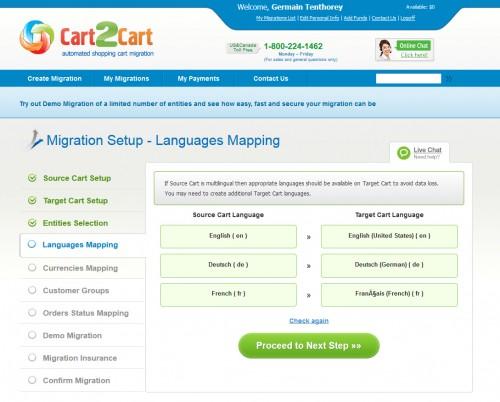 Une correspondance facile à faire... il faut avoir les mêmes langues installées dans les 2 boutiques.