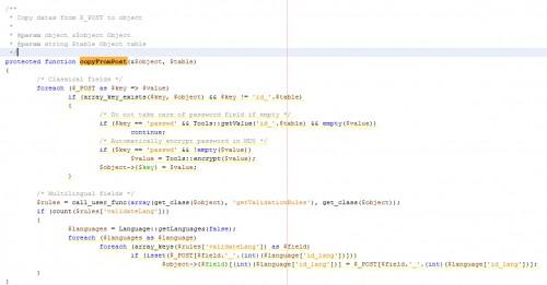 """La méthode CopyFromPost du fichier AdminController est l'explication du pourquoi ça fonctionne sans coder le """"sauvegardage des données""""."""