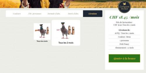 Le fait de ne pas avoir le pigeon dans la même position selon l'option choisie... Ce sont des détails qui donnent envie.