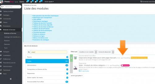 Si vous utilisez par exemple le diaporama par défaut de Prestashop au lieu d'un module spécifique de slider, vous aurez l'assurance de toujours avoir un module avec un contenu fonctionnel au fil des versions.