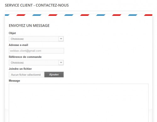 Le formulaire de contact de Prestashop est tout à fait fonctionnel, mais limité... si on veut le nom du client, prénom... rue, téléphone... difficile d'ajouter de nouveaux champs.