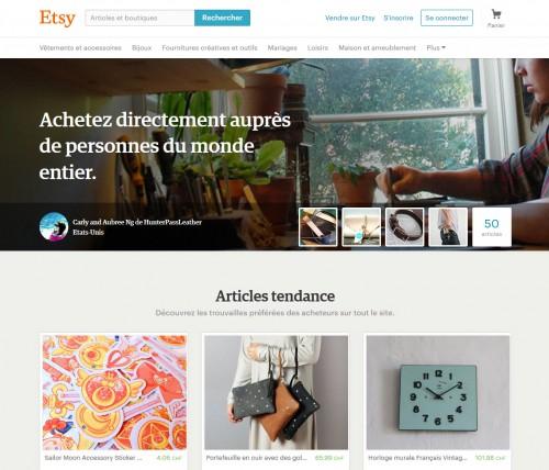 La plateforme Etsy regroupe surtout des créateurs de produits, des artisans... des bricoleurs avec des produits amusants.