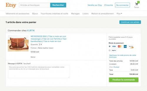 Le paiement est vraiment simple pour l'internaute... 1 clic et on peut déjà se projeter pour effectuer son achat.