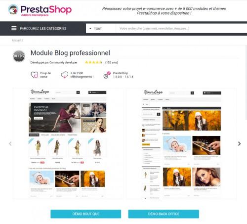 Ces modules de blogs sont complémentaires... ce qui est normal, car Prestashop est avant tout une solution orientée purement e-ecommerce.