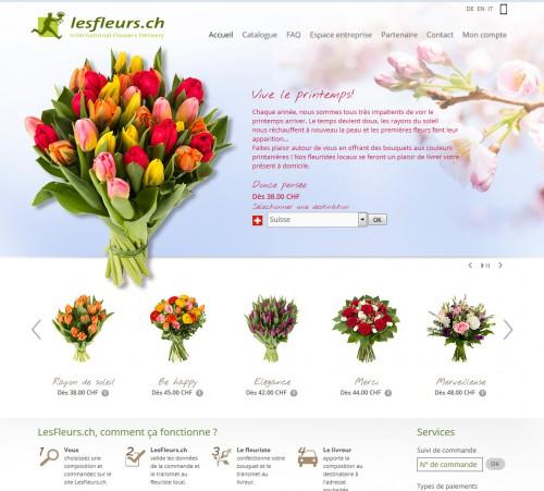 Par exemple sur le site lesfleurs.ch on montre bien que le printemps arrive... on sent le soucis d'actualiser la page d'accueil et ils ont raison. C'est plus intéressant pour le client et ça rassure de voir que l'entreprise est active avec du répondant.