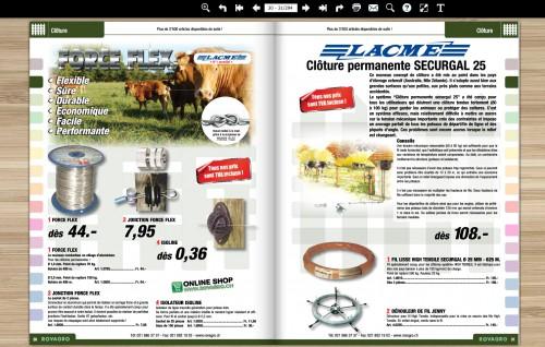 Par exemple l'image des bovins donne une toute autre allure à la présentation de la page, elle met dans le contexte le client. Sur une page produit aujourd'hui on voit rarement de la mise en contexte, même si cela n'est pas réellement utile ça plait à l'oeil.