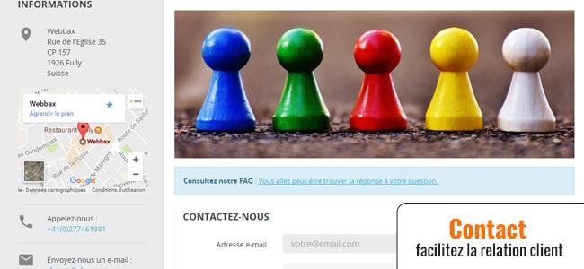 Contact via Prestashop
