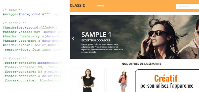 Modification CSS Prestashop