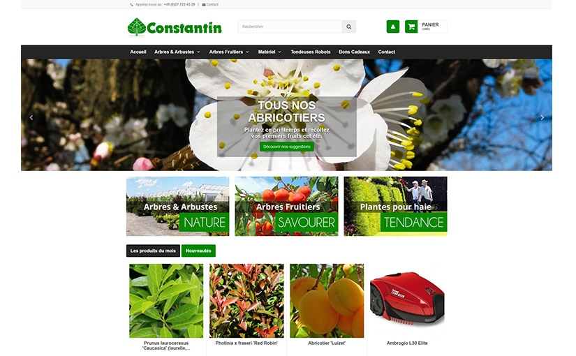 P pini re constantin webbax for Jardinerie par internet