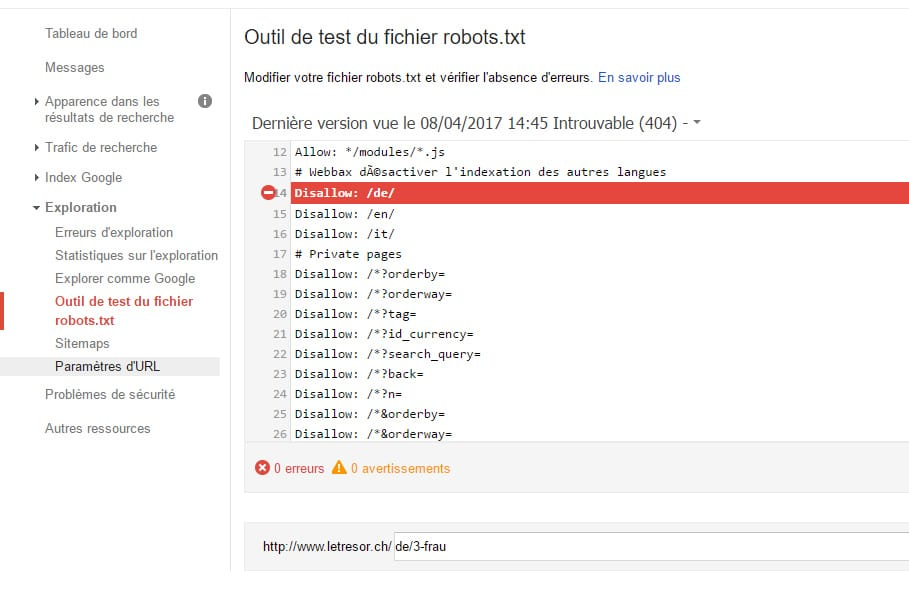 Google Webmaster Robots.txt