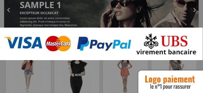 Logos de paiement Prestashop