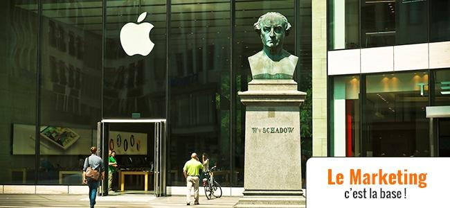 Je fais comme Apple j'investis en Marketing