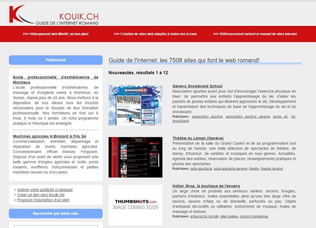 Annuaire Web Kouik