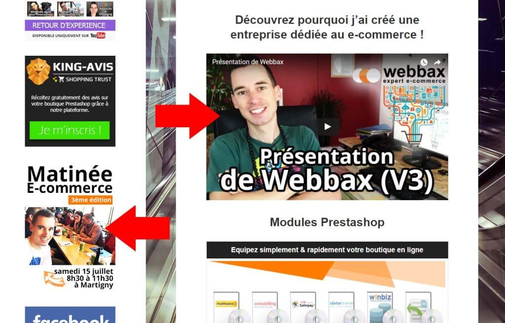 Webbax faire vivre le site
