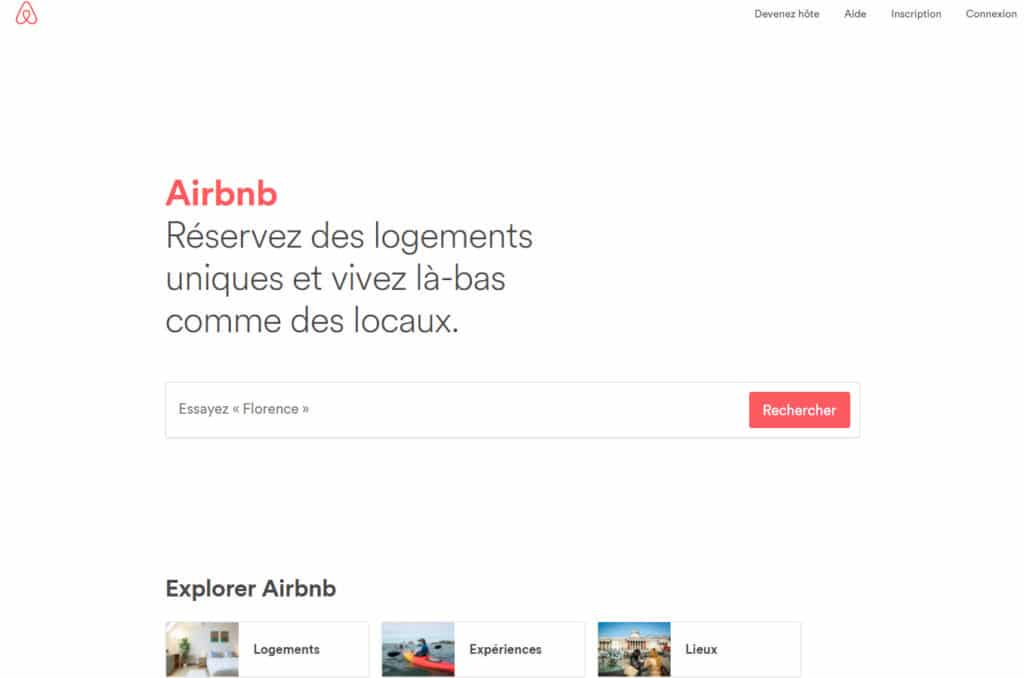 Airbnb interface