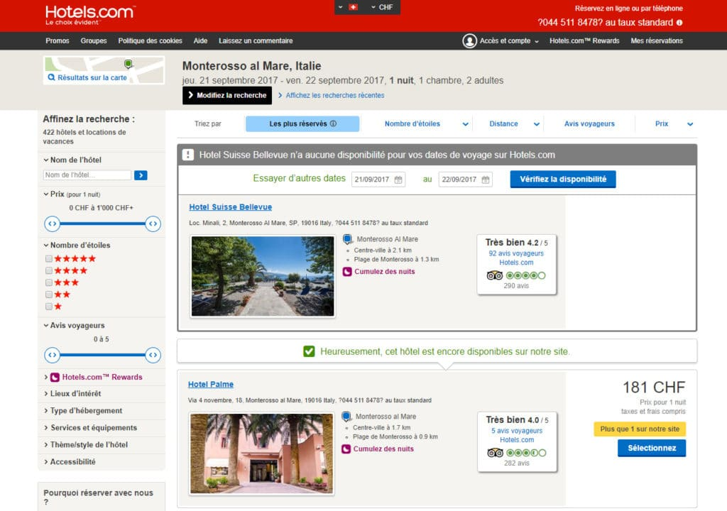 Hotels.com avis