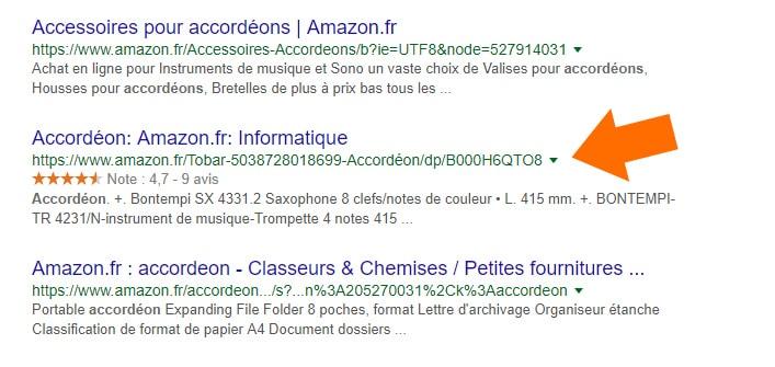 Amazon étoiles sur un accordéon