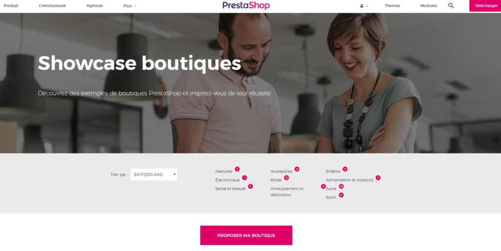 Showcase de Prestashop