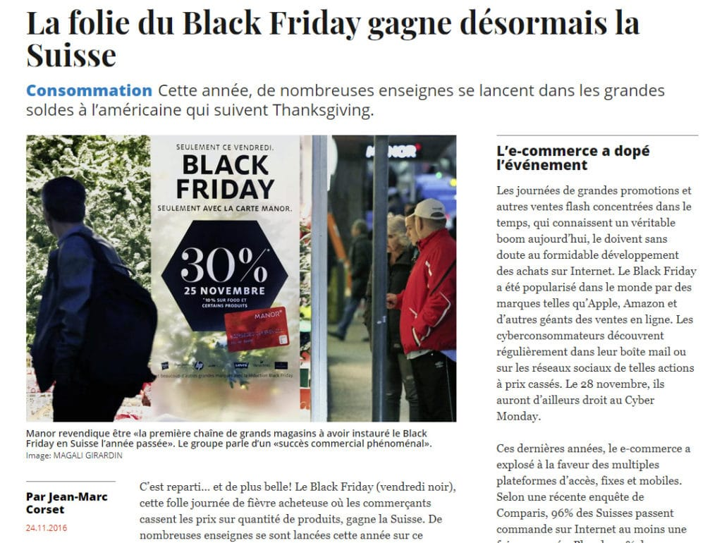 Black Friday Suisse