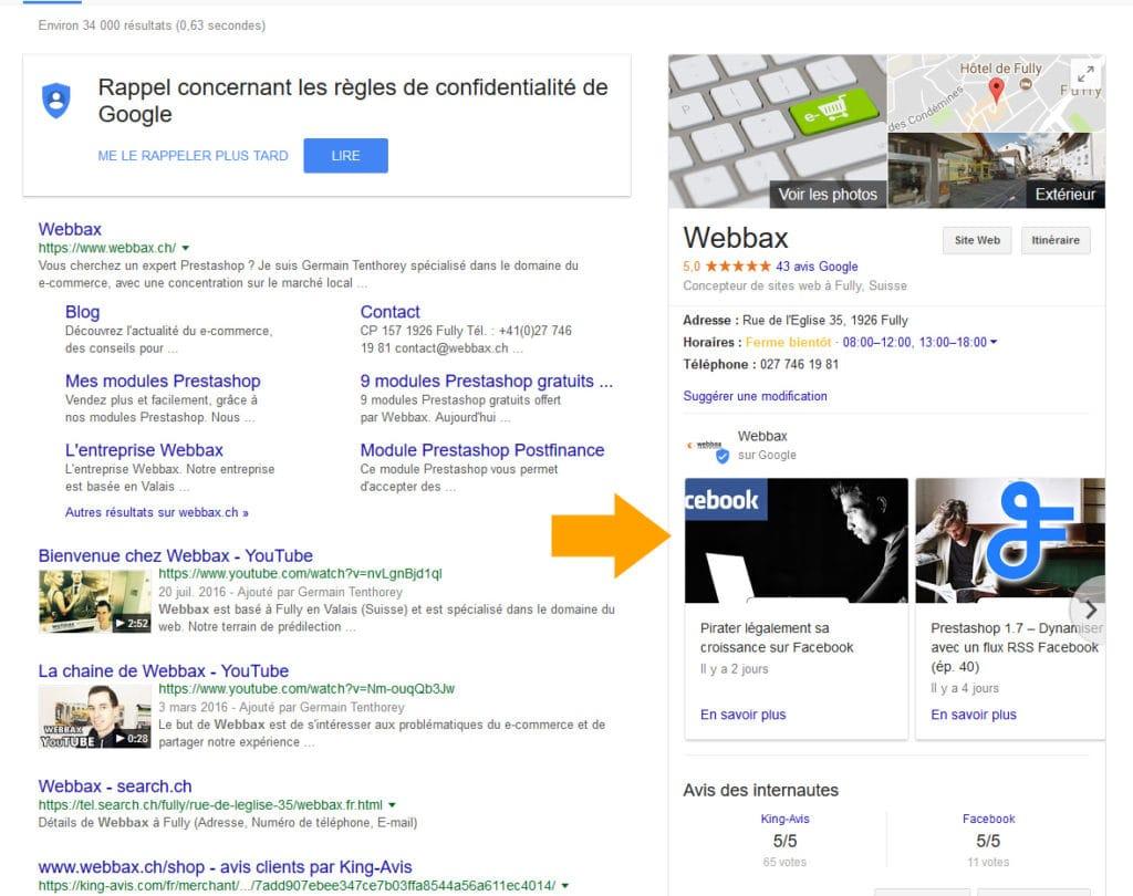 Google Posts Résultats