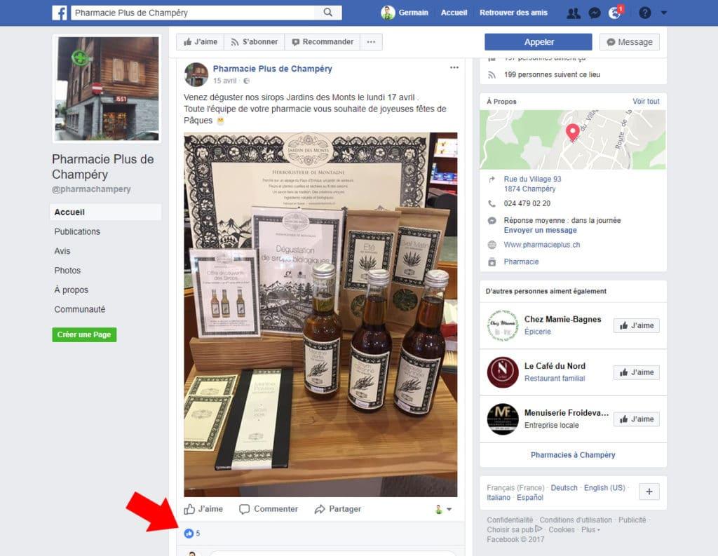 Pharmacie sur Facebook