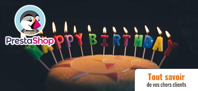 Prestashop date d'anniversaire
