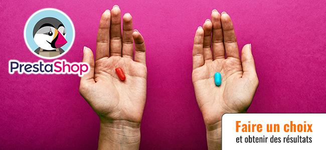 Pour votre référencement PrestaShop choisissez la pilule rouge ou bleue (ép. 88)